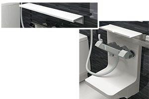 ハウステック「LL」はシンプルなカウンターと洗面器設置台が人気!