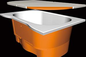 ハウステックLLの浴槽はお湯の温度が下がらずいつまでも暖かい!