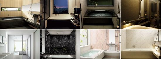 Lクラスバスルームは浴室形状が選べてカラーもサイズも豊富!