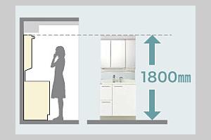 狭いマンションや団地などの間取りにも取り付けが可能